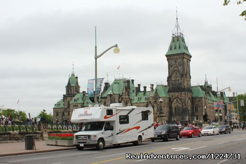 RV in downtown Ottawa - CanaDream RV Rentals & Sales - Toronto
