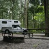 Truck Camper at Campsite