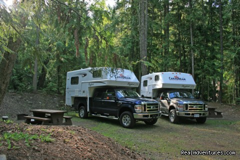 Two Truck Campers in a Wooded Campground - CanaDream RV Rentals & Sales - Halifax