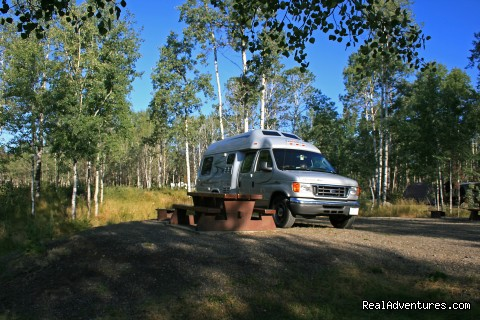 Van Conversion at a Campground - CanaDream RV Rentals & Sales - Halifax