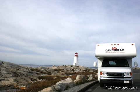 Large Motorhome at Peggy's Cove (#1 of 5) - CanaDream RV Rentals & Sales - Halifax