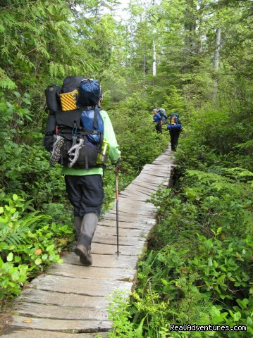 WCT Boardwalk-Slippery When Wet (#5 of 9) - Top 10 Hikes in the World-BC's West Coast Trail