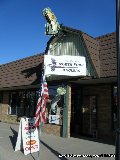 Store front on Sheridan Avenue - Tim Wade's North Folk Anglers