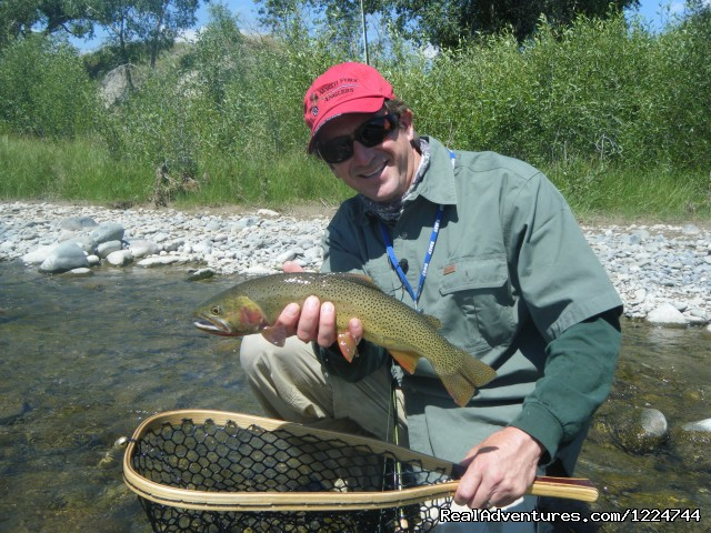 Yellowstone cutthroat, North Fork Shoshone R. - Tim Wade's North Folk Anglers