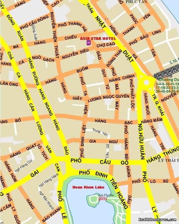 Map to find hotel  | Image #7/10 | In Old City 5 Minutes from Hoan Kiem Lake