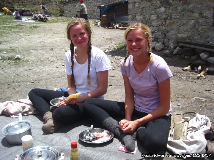 guest enjoying hot lunch in thangshing. | Image #3/6 | Your Travel Companion For Sikkim, Darjeeling.