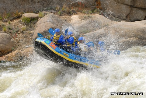 Big Air on the Arkansas River - Whitewater Rafting in Colorado