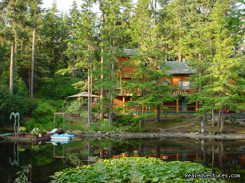 View from Across the Pond - Alaska's Pearson's Pond Luxury Inn & Adventure Spa