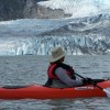 Glacier lake kayak