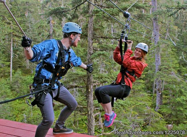 Alaska Zipline Adventures: Alaska Zipline Adventures at Eaglecrest Ski Area