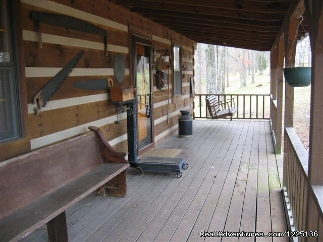 Front Porch w/Swing | Image #5/24 | Kentucky Lake Log Home