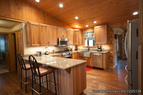 Kitchen (#5 of 24) - Kentucky Lake Log Home