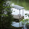 Covered dock on secluded cove