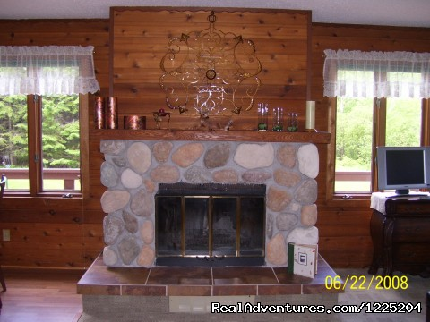 Wood fireplace - Somebody Else's House Near Lake Superior