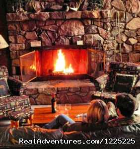 Sit by the fire - Bearskin Lodge