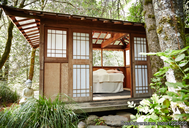 Secluded Creek Side Pagodas - Osmosis Day Spa Sanctuary