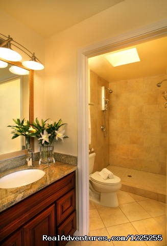 Bathroom in Vineyard Cottage Suite - Romantic Wine Country, Spa and Redwoods Getaway