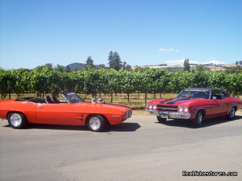 Elena & Jessie at J Sparkling Wines - Wine Country Hot Rod Tours