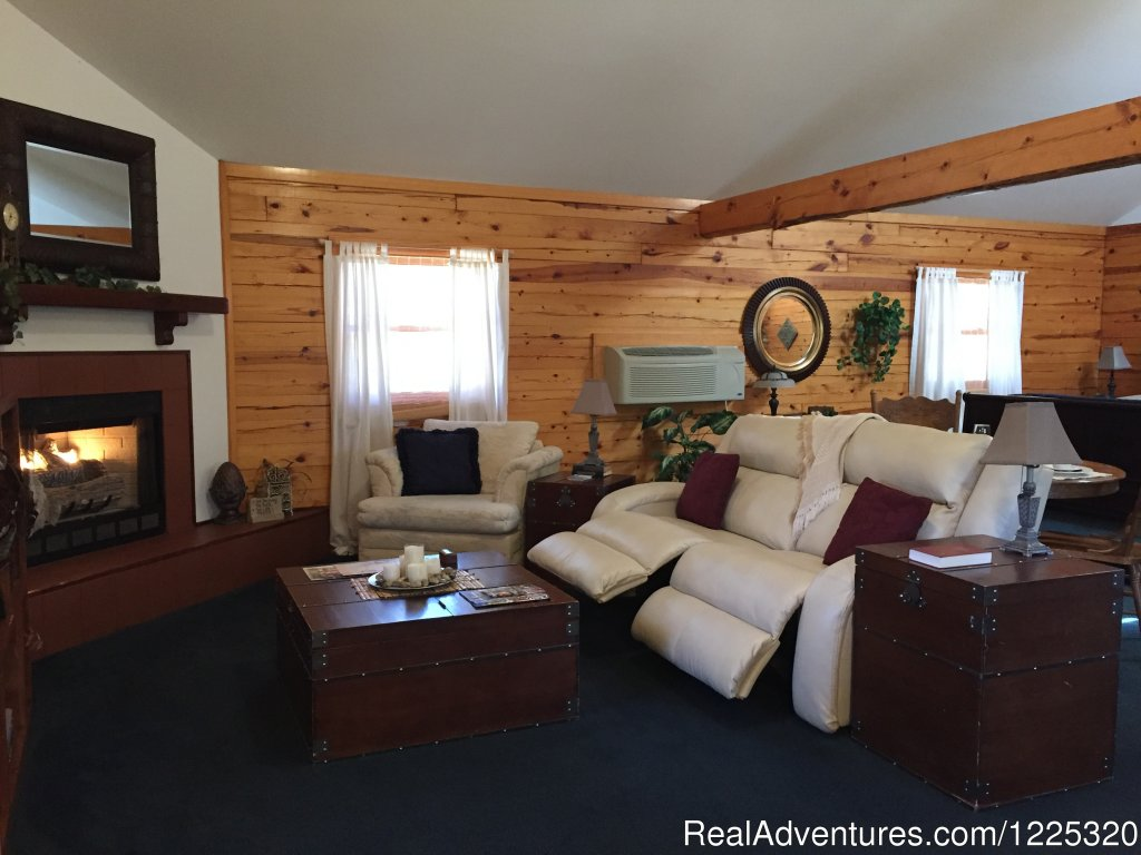 Midnight Forrest Living area | Image #11/26 | Wisteria Lane Incurably Romantic Log Cabin Lodging