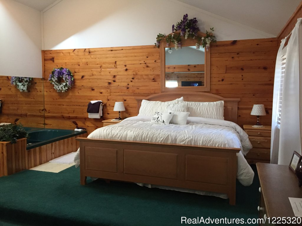 Woodland Violets inside view | Image #24/26 | Wisteria Lane Incurably Romantic Log Cabin Lodging