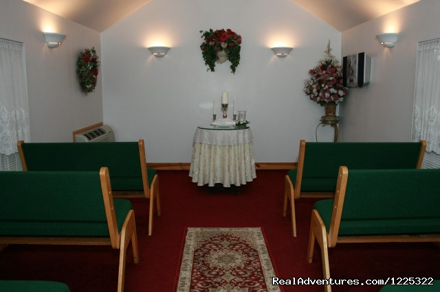 Chapel Interior - A Wedding at Hidden Acres