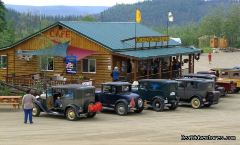Caravan of 'old timers' at the 'Outpost' - Chicken Gold Camp and Outpost
