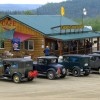 Caravan of 'old timers' at the 'Outpost'