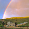 Rainbow (and bucket of gold?) at Pedro Dredge
