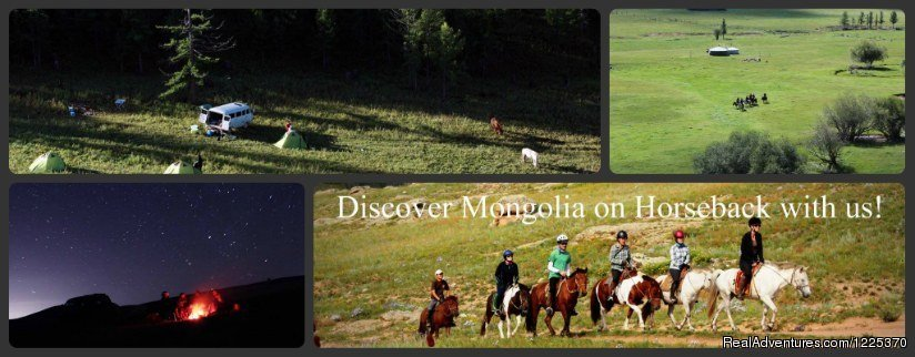 Horseback adventure in Mongolian beautiful regions ,such as Khangai , Khentii, Khovsgoli Mountains. Our some treks are supported by packing horse and some of them supported by car.highlights of our treks: homestay at Nomadic family etc