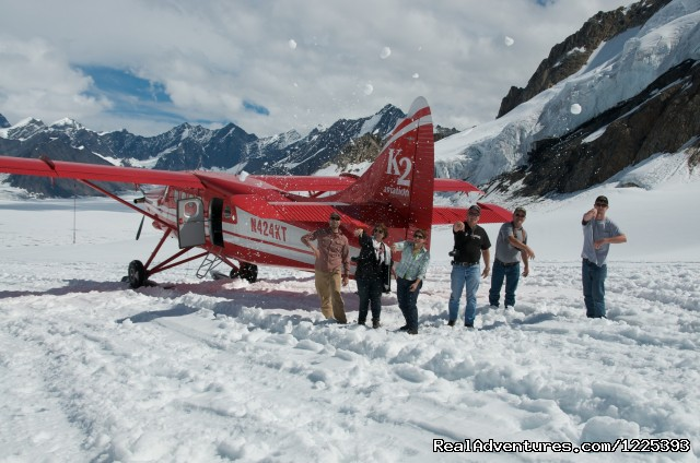 Glacier Landing Fun (#2 of 8) - K2 Aviation