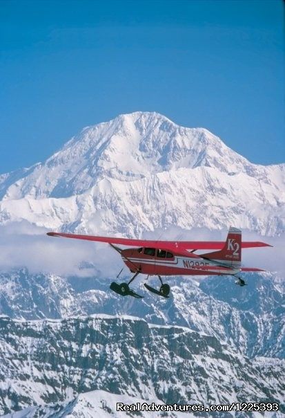 Cessna 185 approaches Mt. McKinley - K2 Aviation