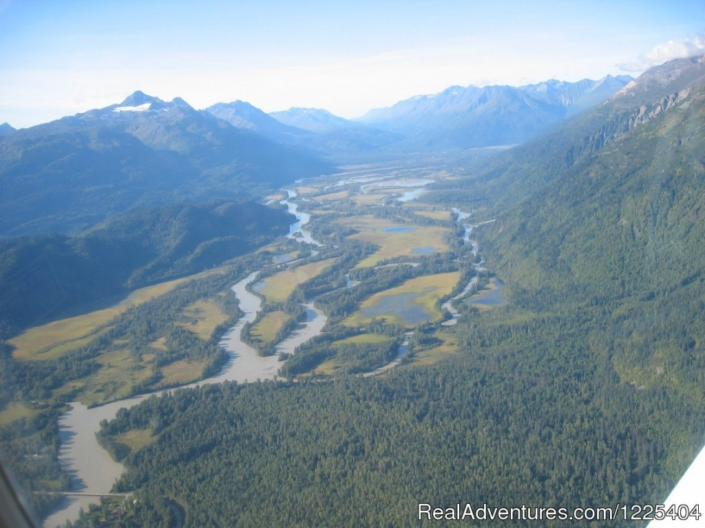 Aerial photo of river route | Image #7/11 | Chilkat River Adventures