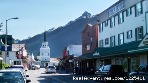 Downtown Sitka - Wild Strawberry Lodge