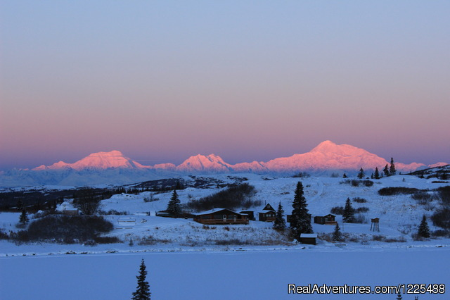 Alpenglow on Denali - Caribou Lodge Alaska