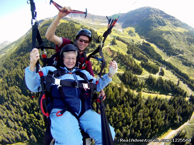 Out in front of the Mountain - Alaska Paragliding, LLC