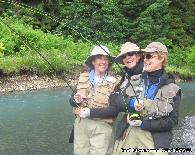 Get Started Fly Fishing with us in Alaska: Doubles at the fly fishing school in Cordova, AK