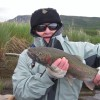 Get Started Fly Fishing with us in Alaska A gorgeous Rainbow trout at the Brooks River, AK