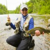 Get Started Fly Fishing with us in Alaska The fishing machines with another double of pink salmon in A