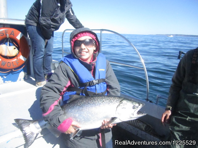 Inlet Charters -Across Alaska Adventures: Even kids can catch the big one.