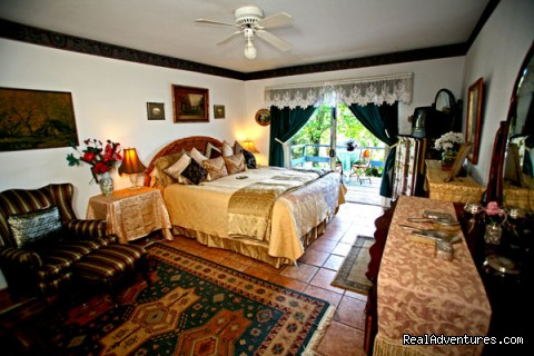 Hillcrest Master Bedroom with balcony - Napa Valley's Destination Getaway at Hillcrest B&B