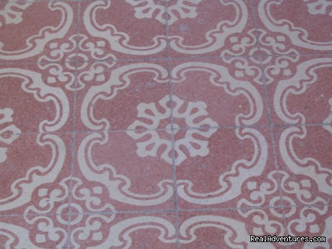 Floor tile of Scirocco room - B&B Belveliero Trapani harbour/old town