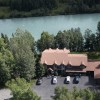 A Alaska Fishing Lodge and Soldotna B&B Aerial view of Lodge directly on the Kenai River
