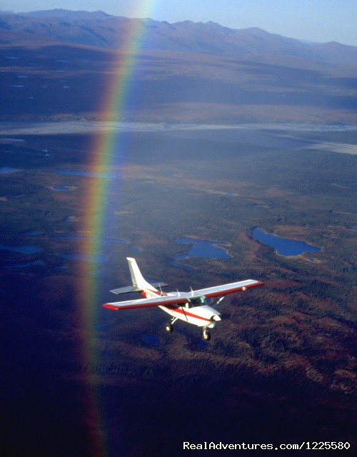 Rainbows over Denali National Park and our Cessna 206 (#4 of 7) - Kantishna Air Taxi