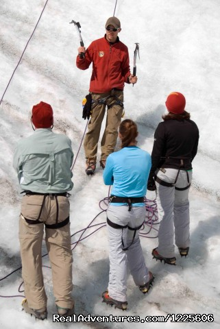 Teaching Ice Climbing to beginners (#5 of 23) - Adventure Guides in Wrangell-St. Elias NP