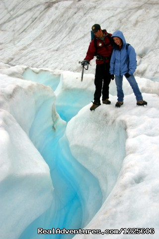 Guided Glacier hikes on the Root Glacier - St. Elias Alpine Guides