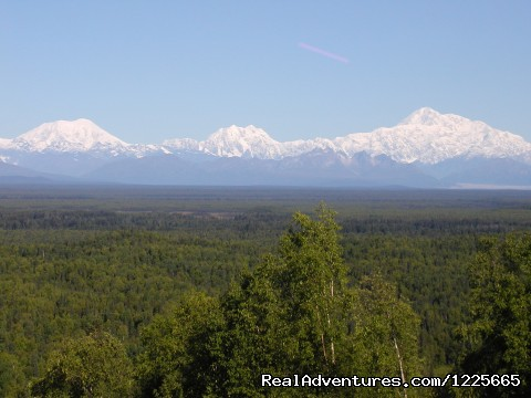 Mt. McKinley and Alaska Range  - Private Denali View Lodging in Talkeetna Alaska
