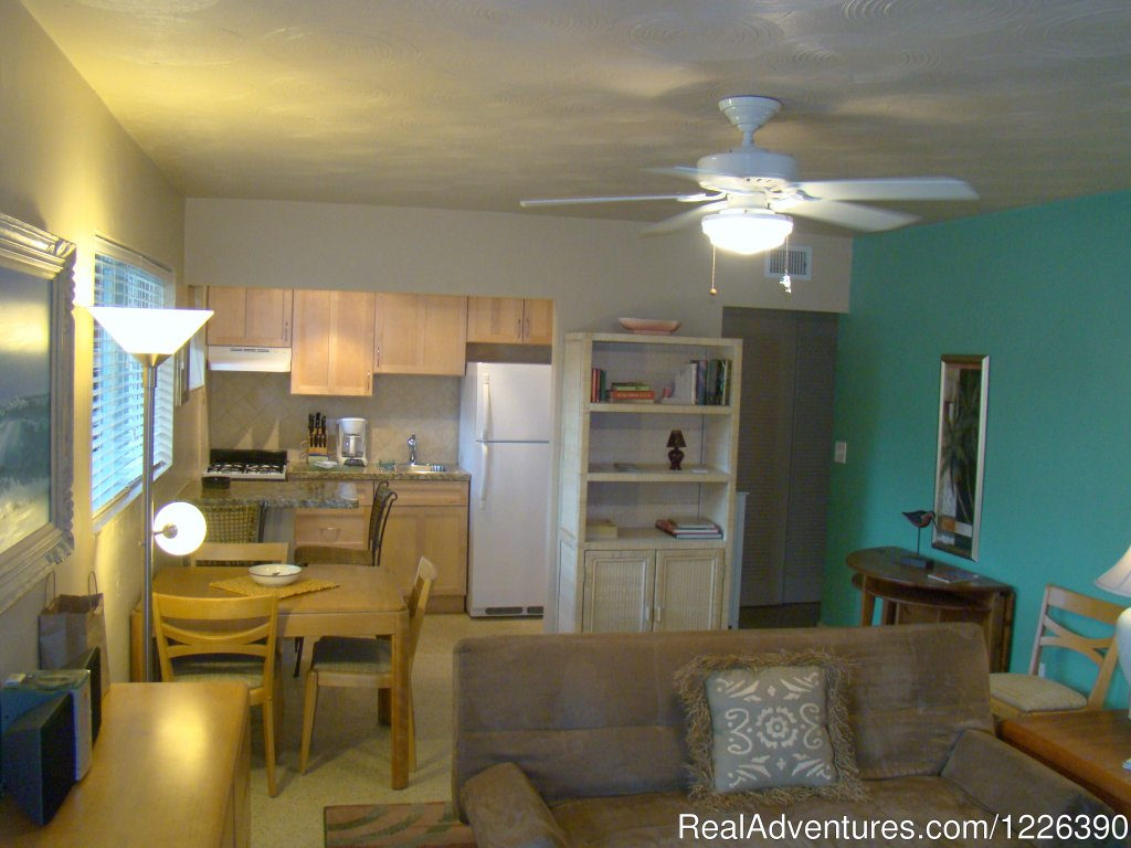 Family One Bedroom, Dining/Living Area, w/kitchen view | Image #8/17 | The Desoto Ocean View Inn