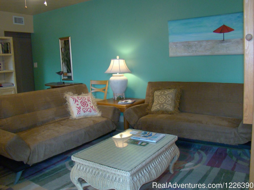 Family One Bedroom, Living Area with Sofa sleepers | Image #9/17 | The Desoto Ocean View Inn