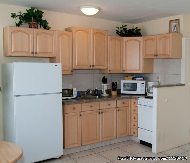 Fully Equipped Kitchen - Tropical Ocean View Suites at the Sea Spray Inn