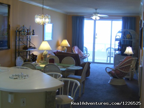 Dining and Living Room - 206 - 10% EB Disc, 3Br/3Ba Gulf Front Condo, Slp 8, WiFi